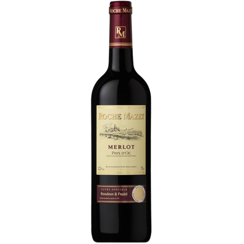 Roche Mazet Merlot Rouge Pays d'Oc IGP Red 750ML